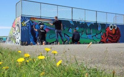 Nieuwe graffiti met een reden