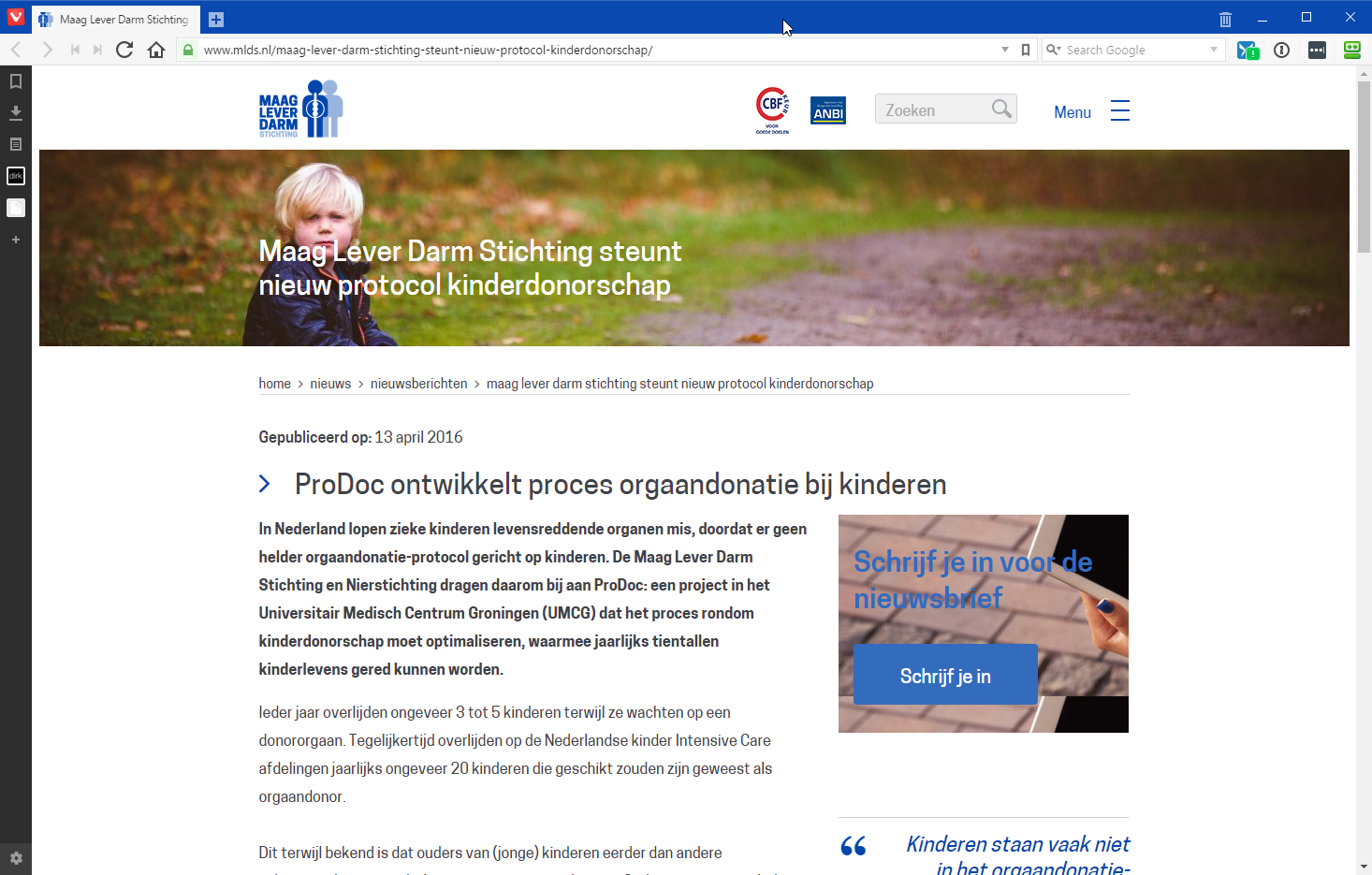 2016-04-13 12_18_09-Maag Lever Darm Stichting steunt nieuw protocol kinderdonorschap - Maag Lever Da